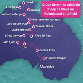 13 Day Darwin to Adelaide Cheap as Chips incl. Kakadu and Litchfield National Parks