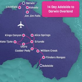 Overland Adelaide to Darwin 14 Day