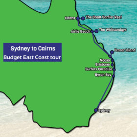 Sydney to Cairns Budget East Coast tour 14 days