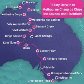 16 day Darwin to Melbourne Cheap as Chips including Kakadu and Litchfield National Parks