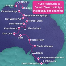 17 day Melbourne to Darwin Cheap as Chips Including Kakadu and Litchfield National Parks