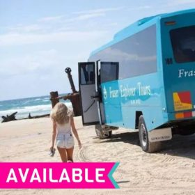 2 Day 1 Night Fraser Island Fully Guided Tour from Rainbow Beach