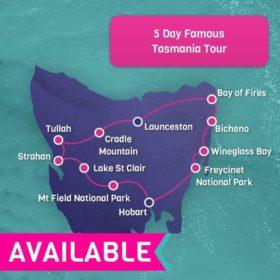 5 day Famous Tasmania tour - Hobart Return