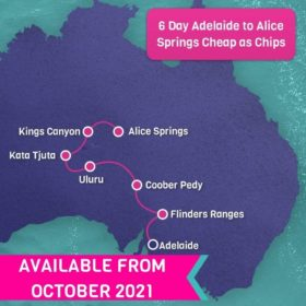 6 Day Adelaide to Alice Springs Cheap as Chips
