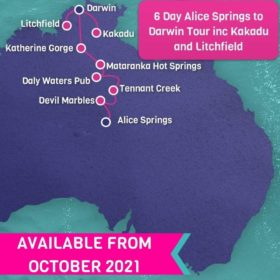6 Day Alice Springs to Darwin including Kakadu and Litchfield