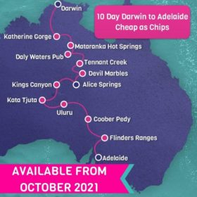 10 Day Darwin to Adelaide Cheap as Chips