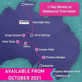 11 Day Darwin to Melbourne Time Saver