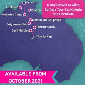 6 Day Darwin to Alice Springs including Kakadu