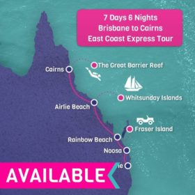 Brisbane to Cairns East Coast Express Tour - 7 Days 6 Nights