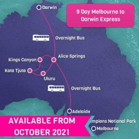 9 Day Melbourne to Darwin Express
