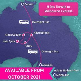 9 Day Darwin to Melbourne Express