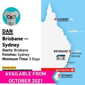 Stray Australia Dan Bus Pass Brisbane to Sydney