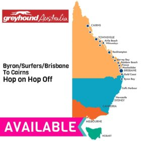 Greyhound Byron/Surfers/Brisbane to Cairns Hop on Hop off Bus Pass