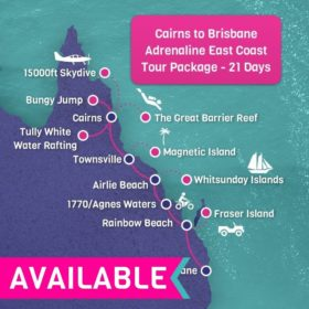 Cairns to Brisbane Adrenaline East Coast Tour Package 21 Days