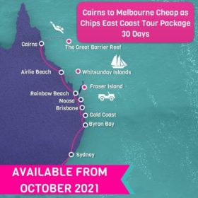 Cairns to Melbourne CHEAP AS CHIPS East Coast Tour Package - 30 days