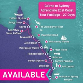 Cairns to Sydney Adrenaline East Coast Tour Package - 27 days