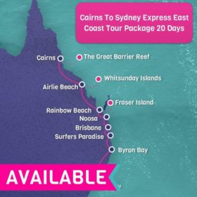 Cairns to Sydney Express East Coast Tour Package - 20 days