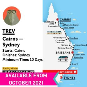 Stray Australia Cairns to Sydney Trev Bus Pass