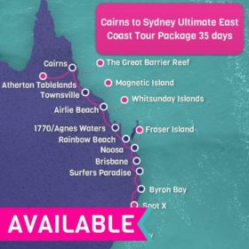 Cairns to Sydney ULTIMATE East Coast Tour Package - 35 days