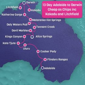 13 Day Adelaide to Darwin Cheap as Chips Including Kakadu and Litchfield National Park