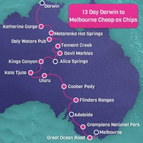 13 day Darwin to Melbourne Cheap as Chips