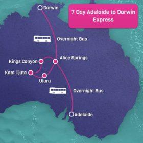 7 Day Adelaide to Darwin Express