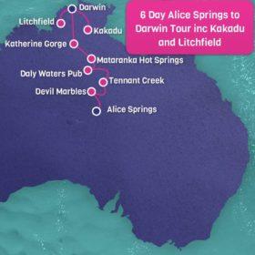 6 Day Alice Springs to Darwin including Kakadu and Litchfield