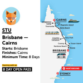 Stray Australia Brisbane to Cairns Stu Bus Pass