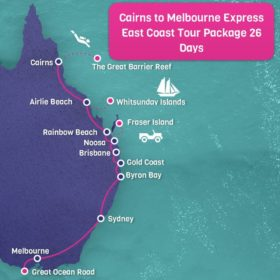 Cairns to Melbourne Time Saver East Coast Tour Package - 26 days