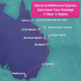 Cairns to Melbourne East Coast Express Tour - 11 Days 11 Nights