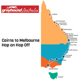 Greyhound Cairns to Melbourne Hop On Hop Off Bus Pass