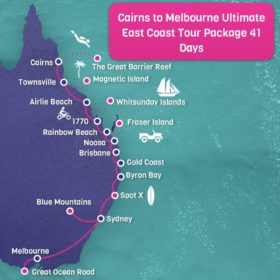 Cairns to Melbourne ULTIMATE East Coast Tour Package - 41 days