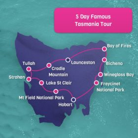 5 day Famous Tasmania tour - Hobart Return