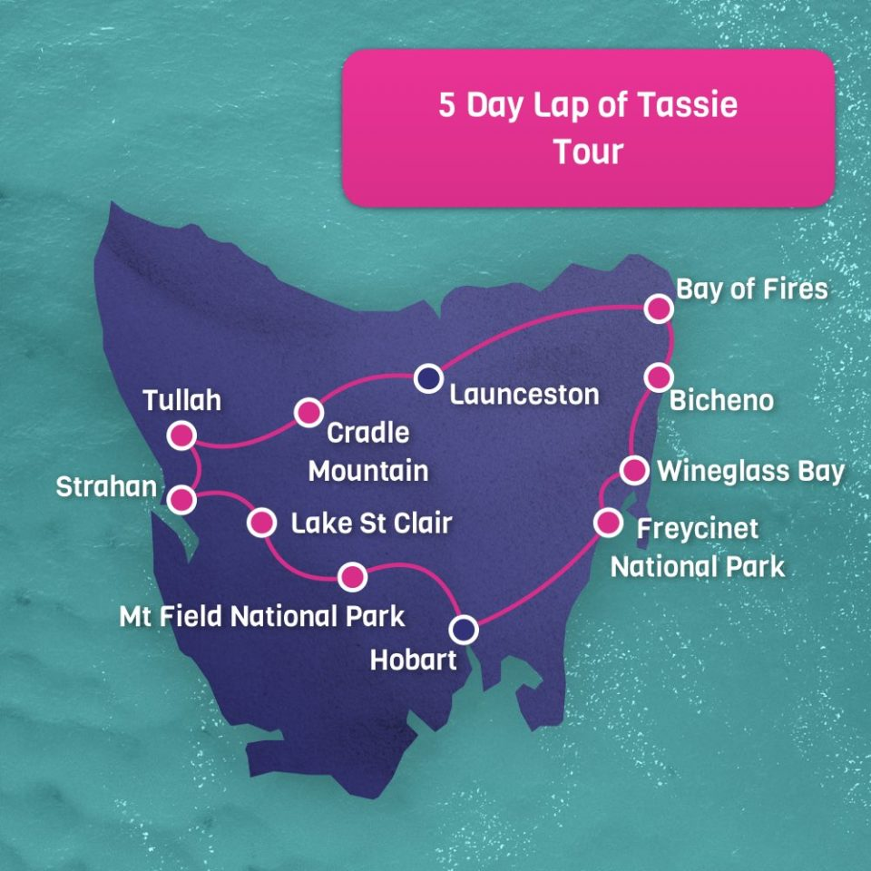 5 Day Lap of Tassie - Hobart Return