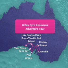 Eyre Peninsula tour Map