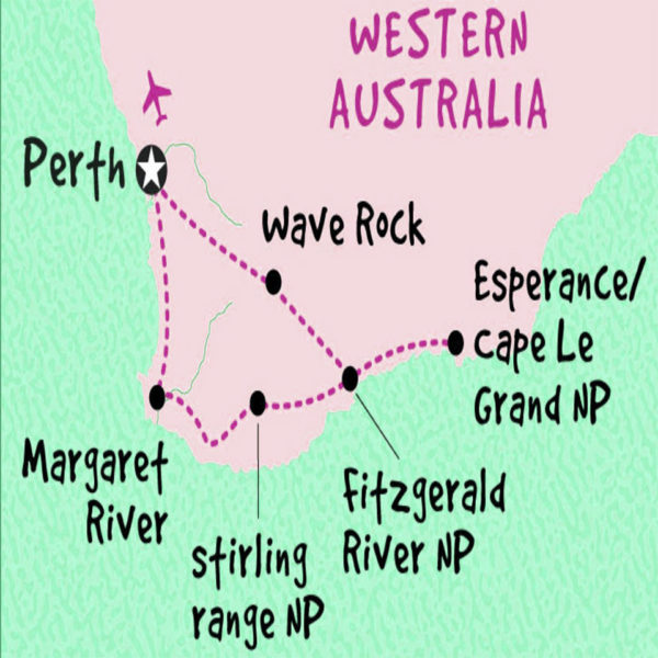 6 Day Esperance, Margaret River and Albany Accommodated Adventure