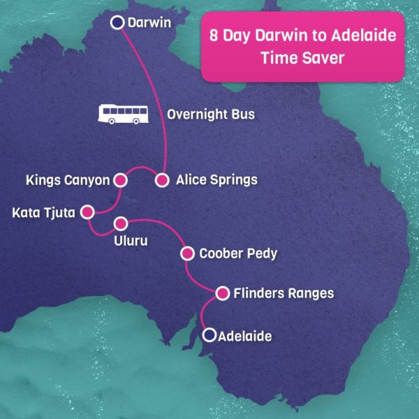 Time Saver Darwin to Adelaide 8 Day