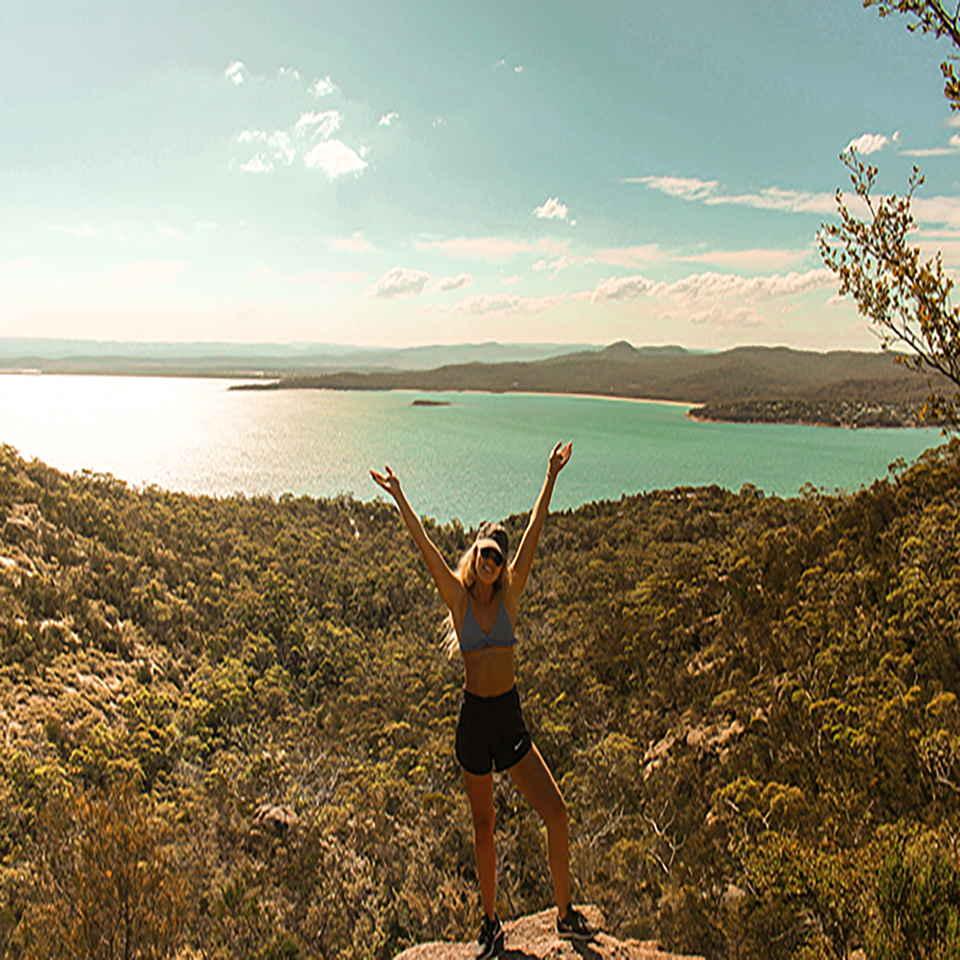 Day hike Tasmania Wineglass bay one stop adventures