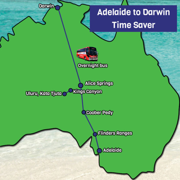 Adelaide to Darwin Map