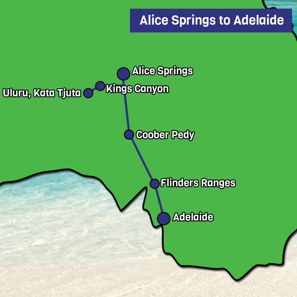 Alice springs to Adelaide