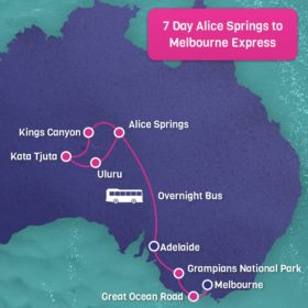 7 Day Alice Springs to Melbourne Express