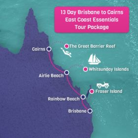 Brisbane to Cairns Map