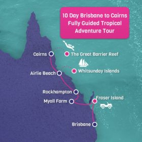 10 Day Brisbane to Cairns Fully Guided Tropical Adventure