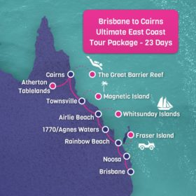 Brisbane to Cairns East Coast Map