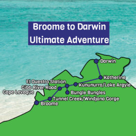 Broome to Darwin MAp