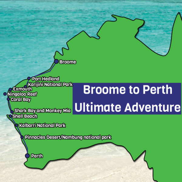 Broome to Perth Map