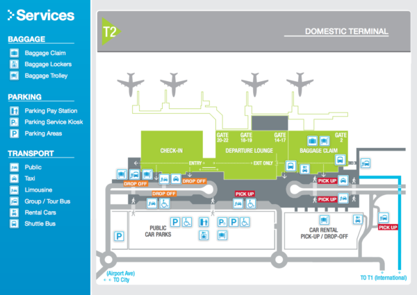 Cairns Domestic Terminal Map