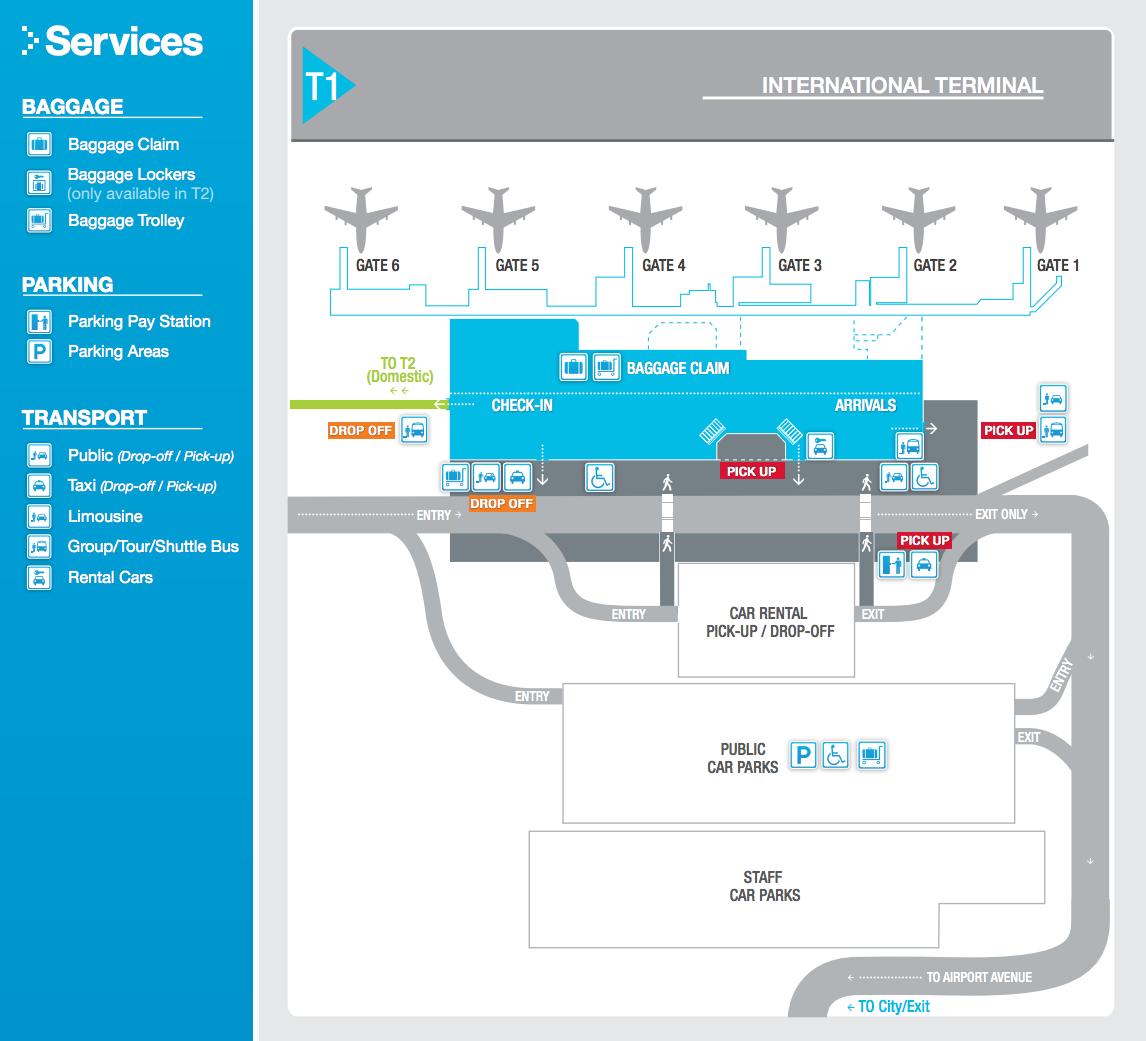 Cairns international Terminal Map