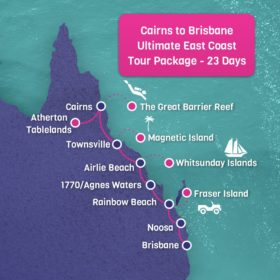 Cairns to Brisbane Map