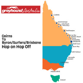 Greyhound Cairns to Sydney Hop on Hop off Bus Pass
